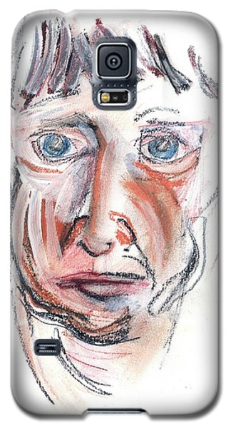 Galaxy S5 Case featuring the drawing Raggedy Selfie by Carolyn Weltman