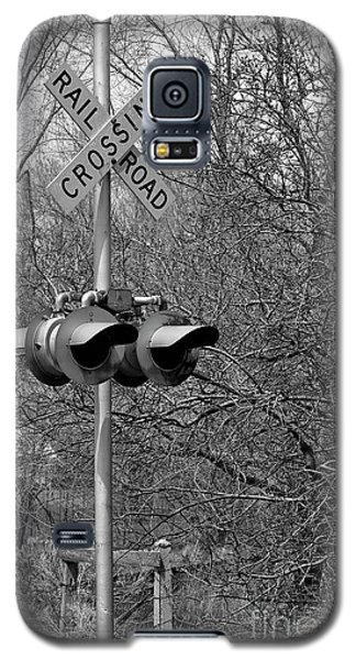Galaxy S5 Case featuring the photograph Rail Road Crossing by Juls Adams