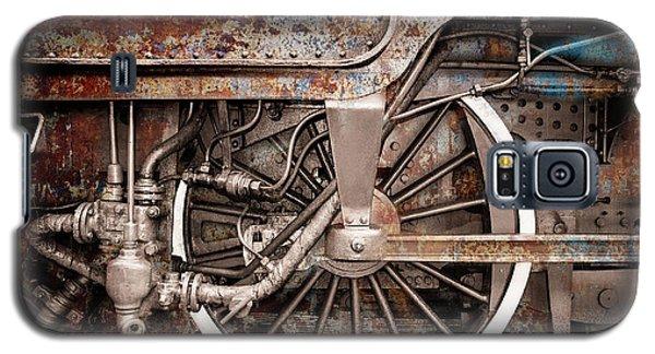 Rail Wheel Grunge Detail,  Steam Locomotive 06 Galaxy S5 Case