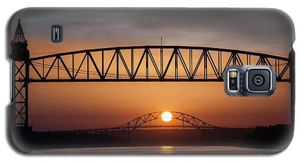 Railroad Bridge Framing The Bourne Bridge During A Sunrise Galaxy S5 Case