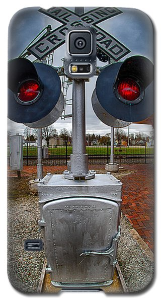 Railroad Crossing Signal Galaxy S5 Case