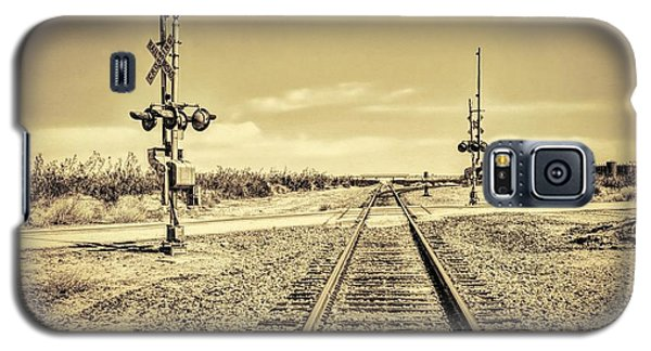 Railroad Crossing Textured Galaxy S5 Case