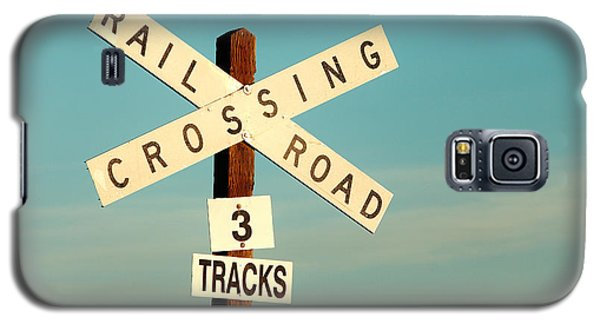 Train Galaxy S5 Case - Railroad Crossing by Todd Klassy