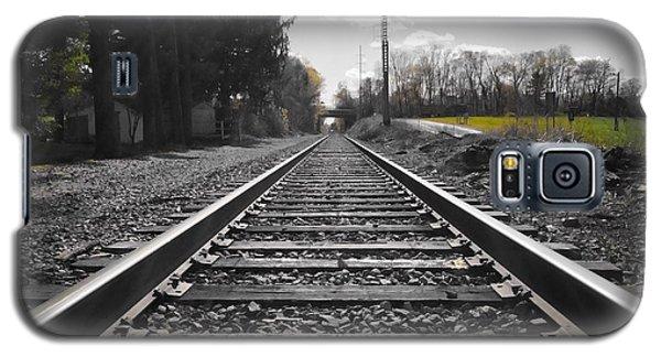 Railroad Tracks Bw Galaxy S5 Case