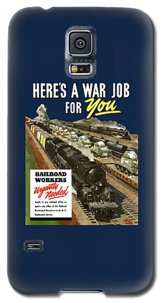 Train Galaxy S5 Case - Railroad Workers Urgently Needed by War Is Hell Store