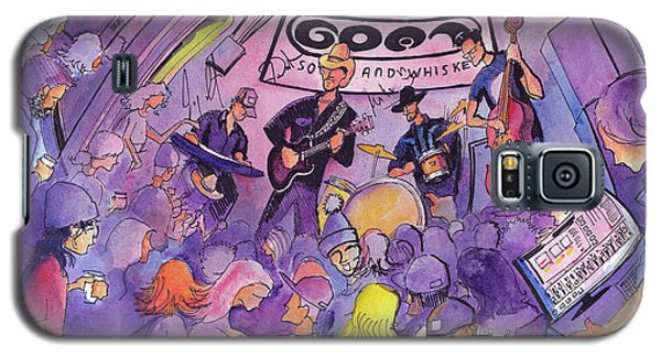 Galaxy S5 Case featuring the painting Railbenders At The Goat Soup And Whiskey by David Sockrider