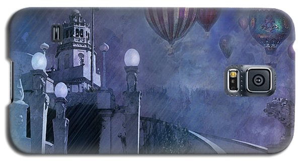 Rain And Balloons At Hearst Castle Galaxy S5 Case by Jeff Burgess