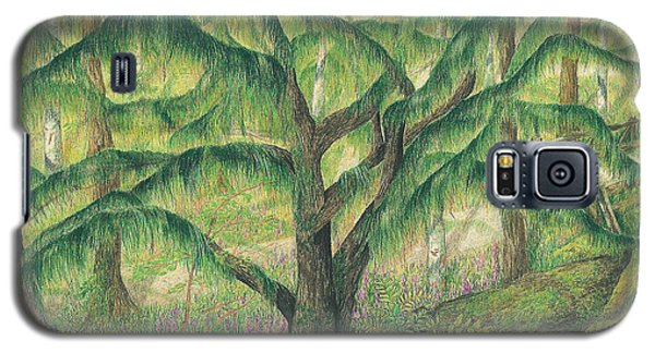 Galaxy S5 Case featuring the painting Rain Forest Washington State by Vicki  Housel