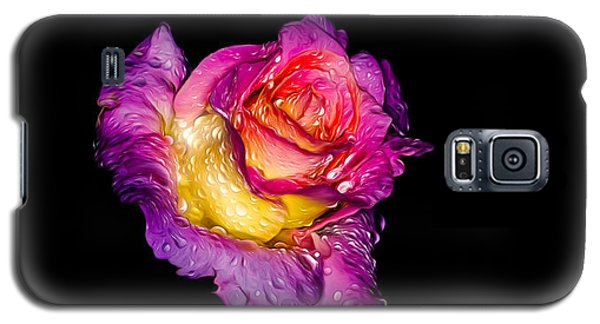 Galaxy S5 Case featuring the photograph Rain-melted Rose by Rikk Flohr