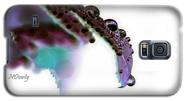 Rain On Rose Leaf Abstract Galaxy S5 Case