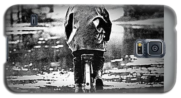 Galaxy S5 Case featuring the photograph Riding-rain Or Shine by Barbara Dudley