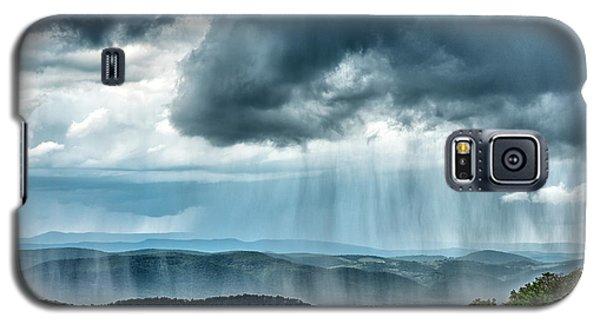 Galaxy S5 Case featuring the photograph Rain Shower Staunton Parkersburg Turnpike by Thomas R Fletcher