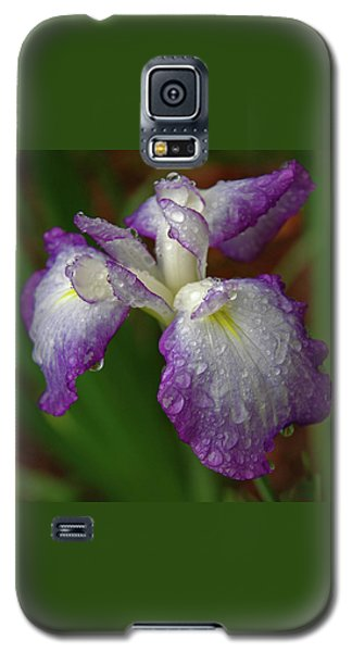 Rain-soaked Iris Galaxy S5 Case by Marie Hicks