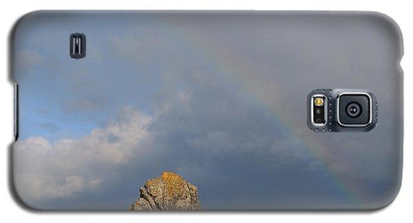 Rainbow Above Sango Bay Sea Stack Galaxy S5 Case