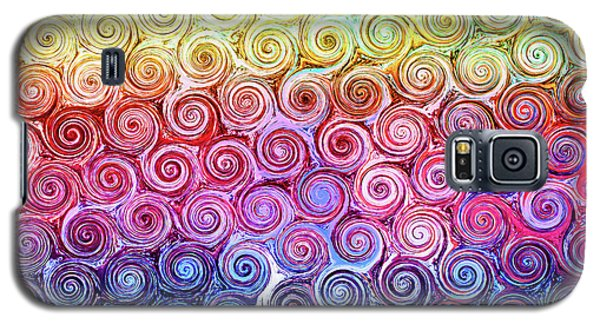Rainbow Abstract Swirls Galaxy S5 Case
