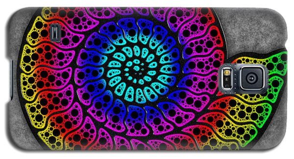 Rainbow Ammonite Galaxy S5 Case