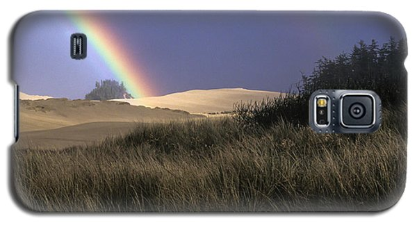 Rainbow And Dunes Galaxy S5 Case