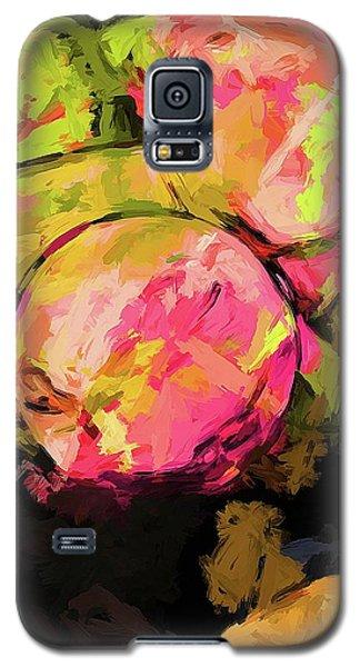 Rainbow Apples Graffiti Green Galaxy S5 Case