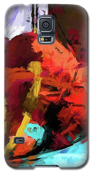 Rainbow Apples Red Graffiti Yellow Galaxy S5 Case