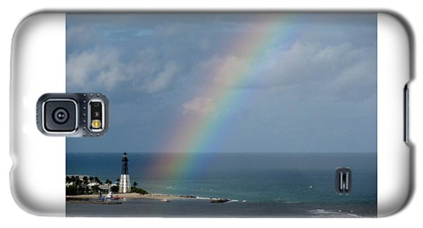 Rainbow At Hillsboro Lighthouse Galaxy S5 Case