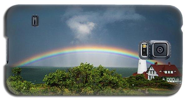 Rainbow At Portland Headlight Galaxy S5 Case