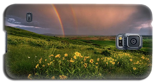 Rainbow At Steptoe Butte Galaxy S5 Case