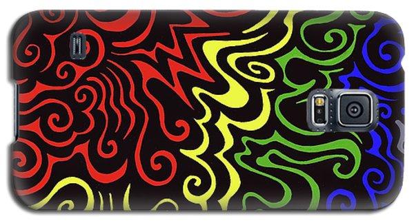 Rainbow Burst Tribal Galaxy S5 Case