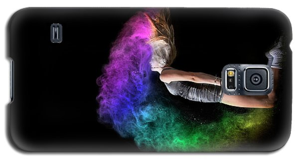 Rainbow Crescent Galaxy S5 Case