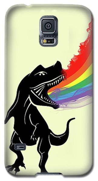 Rainbow Dinosaur Galaxy S5 Case by Mark Ashkenazi