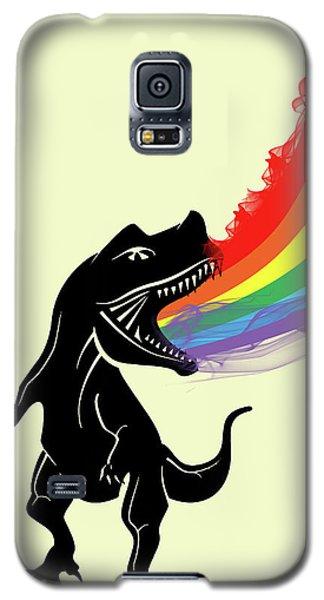Rainbow Dinosaur Galaxy S5 Case