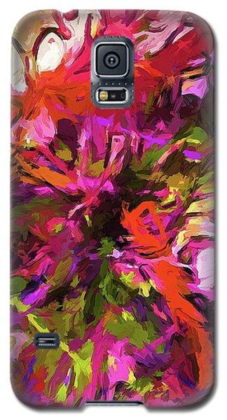 Rainbow Flower Rhapsody Orange Pink Galaxy S5 Case