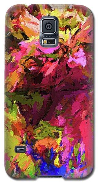 Rainbow Flower Rhapsody Pink Cobalt Blue Galaxy S5 Case