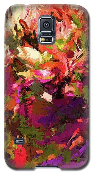 Rainbow Flower Rhapsody Purple Green Galaxy S5 Case