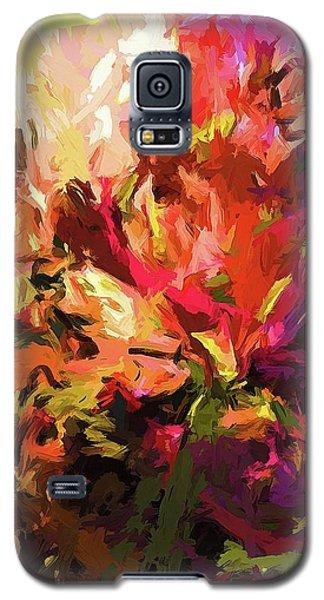 Rainbow Flower Rhapsody Purple Pink Galaxy S5 Case