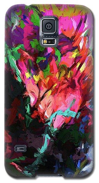 Rainbow Flower Rhapsody Red Turquoise Blue Galaxy S5 Case
