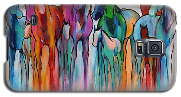 Rainbow Horses Galaxy S5 Case by Cher Devereaux