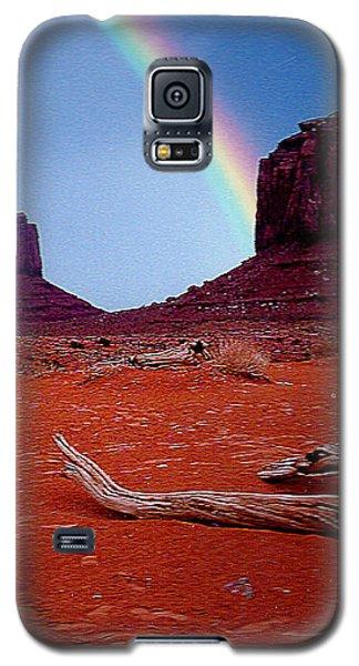 Rainbow In Monument Valley Arizona Galaxy S5 Case