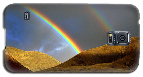 Galaxy S5 Case featuring the photograph Rainbow In Mountains by Irina Hays