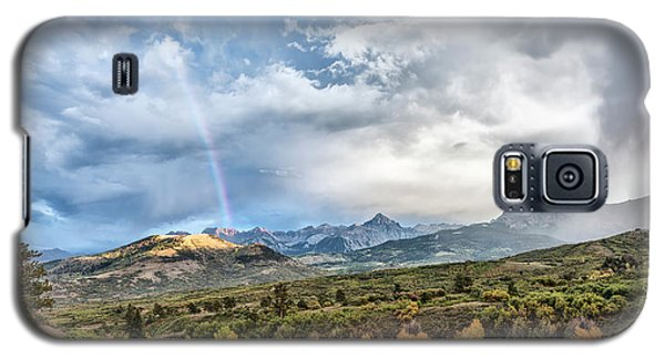Galaxy S5 Case featuring the photograph Rainbow In The San Juan Mountains by Jon Glaser