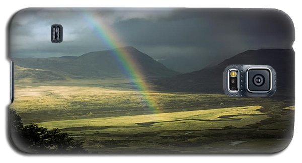 Galaxy S5 Case featuring the photograph Rainbow In The Valley by Andrew Matwijec