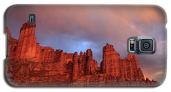 Rainbow In Virga Over Fisher Towers Galaxy S5 Case