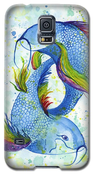Galaxy S5 Case featuring the painting Rainbow Koi by Darice Machel McGuire