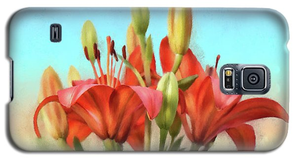 Galaxy S5 Case featuring the photograph Rainbow Lilies by Lois Bryan
