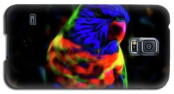 Rainbow Lorikeet - Fractal Galaxy S5 Case