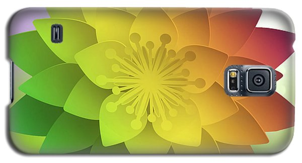 Galaxy S5 Case featuring the digital art Rainbow Lotus by Mo T