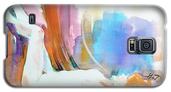 Galaxy S5 Case featuring the painting Rainbow Nude by Gertrude Palmer