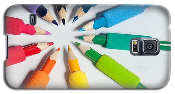 Rainbow Of Crayons Galaxy S5 Case