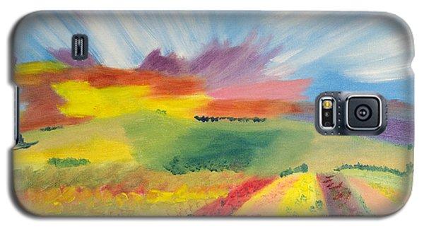 Rainbow Of Flowers Galaxy S5 Case by Meryl Goudey