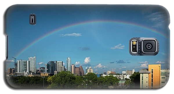 Rainbow Over Austin Galaxy S5 Case