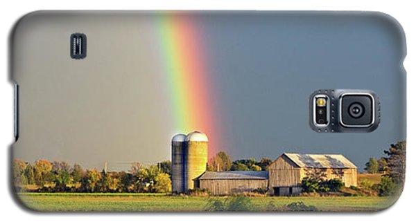 Rainbow Over Barn Silo Galaxy S5 Case